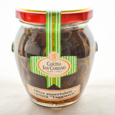 """Pitted """"Taggiasca"""" olives in olive oil"""