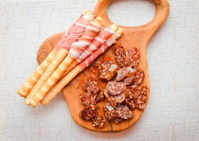 Salami flavoured with truffle Tuber aestivum in olive oil