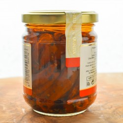 Dried datterino tomatoes  in olive oil