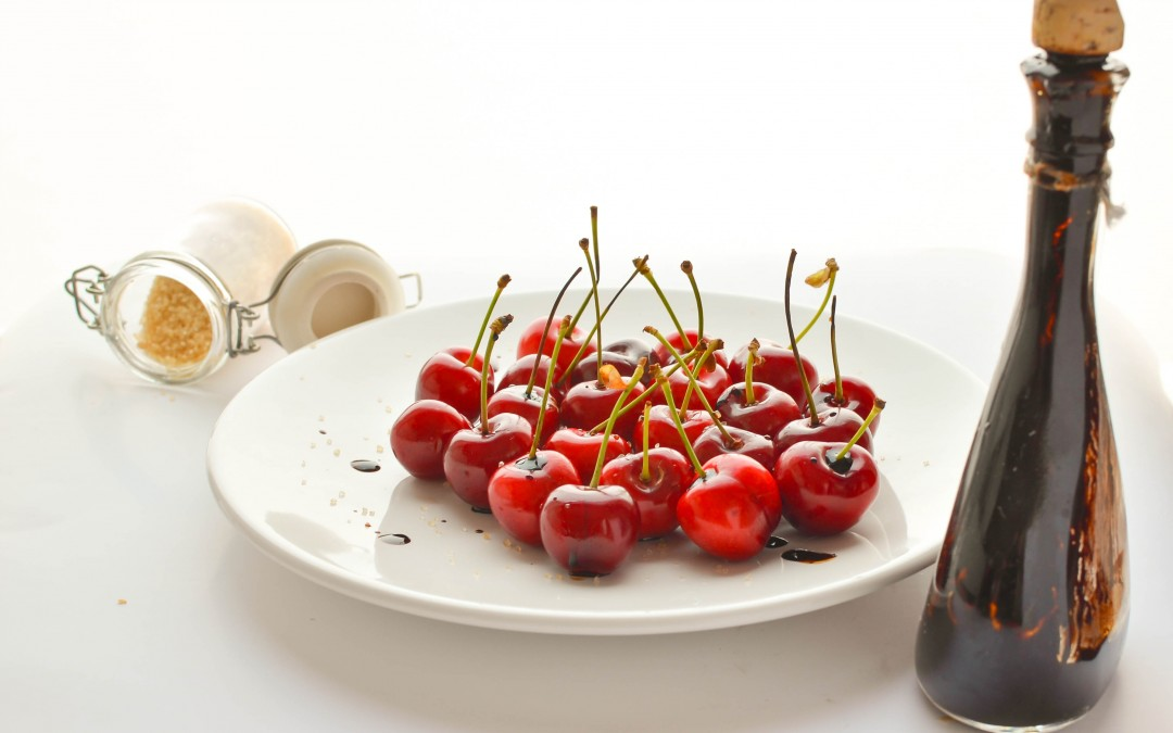 Cherries with aged balsamic vinegar from Modena