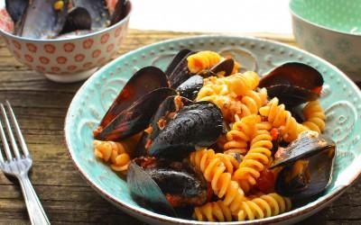 Fusilli with Mussels alla Busara