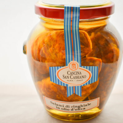 PrWild boar salami in olive oil
