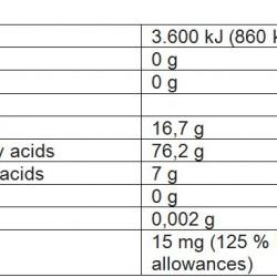 Nutritional Value Extra Virgin Olive oil